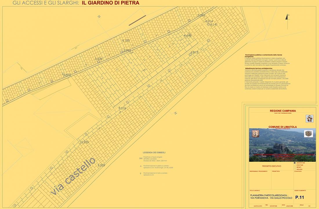 Miglioramento della Fruibilità Turistica del Borgo Medievale di Limatola