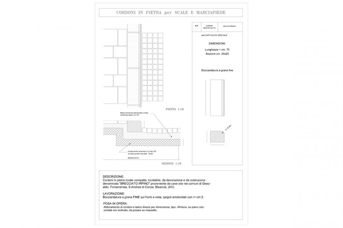 Sistemazione Stradale di Via Roma e Via Soprastazione Monteaguto Irpino (AV)